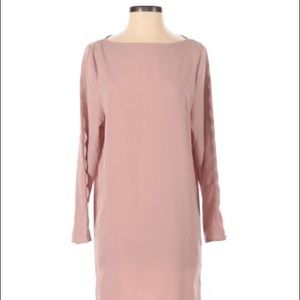 H&M Long Sleeves Shift Style Dress Pink Size 6